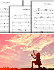 Amazing Grace: Piano sheet music - Multi-levels