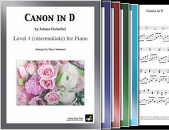 Canon in D: 1st piano pages of multi-levels