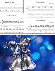 Carol of the Bells: 1st piano pages of multi-levels