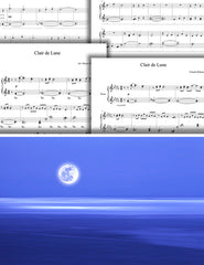 Clair de Lune: 1st piano pages of multi-levels