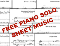 Multiple free piano sheet music - 1 pages