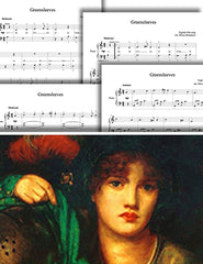 Greensleeves: 1st piano pages of multi-levels