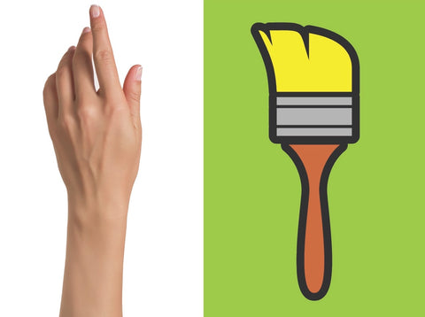 Image of hand & paint brush