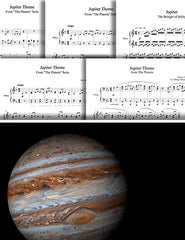 Jupiter from The Planets: 1st piano pages of multi-levels