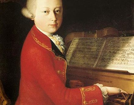 Young Mozart at a piano