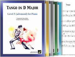 Tango in D Major: 1st piano pages of multi-levels