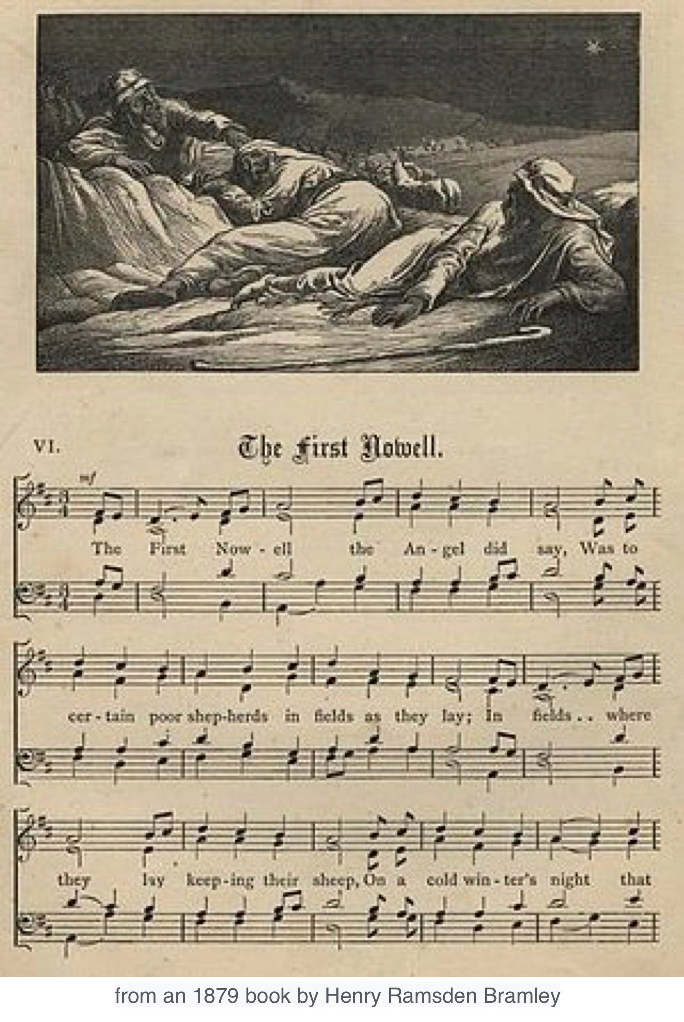"""The First Noel"" old publication 1879"