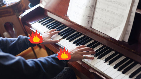 Wrists on fire while playing piano