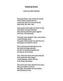 Amazing Grace - Lyrics page
