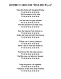 """Deck the Halls"" Lyrics"
