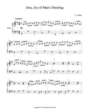 Jesu, Joy of Man's Desiring Level 4 - 1st piano music sheet