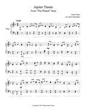 Jupiter Theme Level 4 - 1st piano music sheet