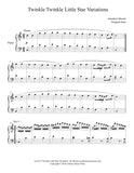 Twinkle Little Star Variations: Level 6 piano sheet music - page 1