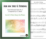 Air on the G String: Level 2 - 1st piano sheet & cover