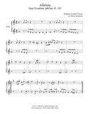 Alleluia by Mozart: Level 1 - 1st music page