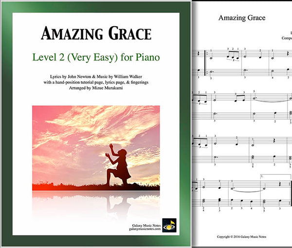 Amazing Grace Free Piano Sheet Music With Lyrics: Piano Sheet Music [very Easy]