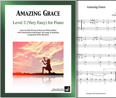 Very easy Amazing Grace piano sheet music