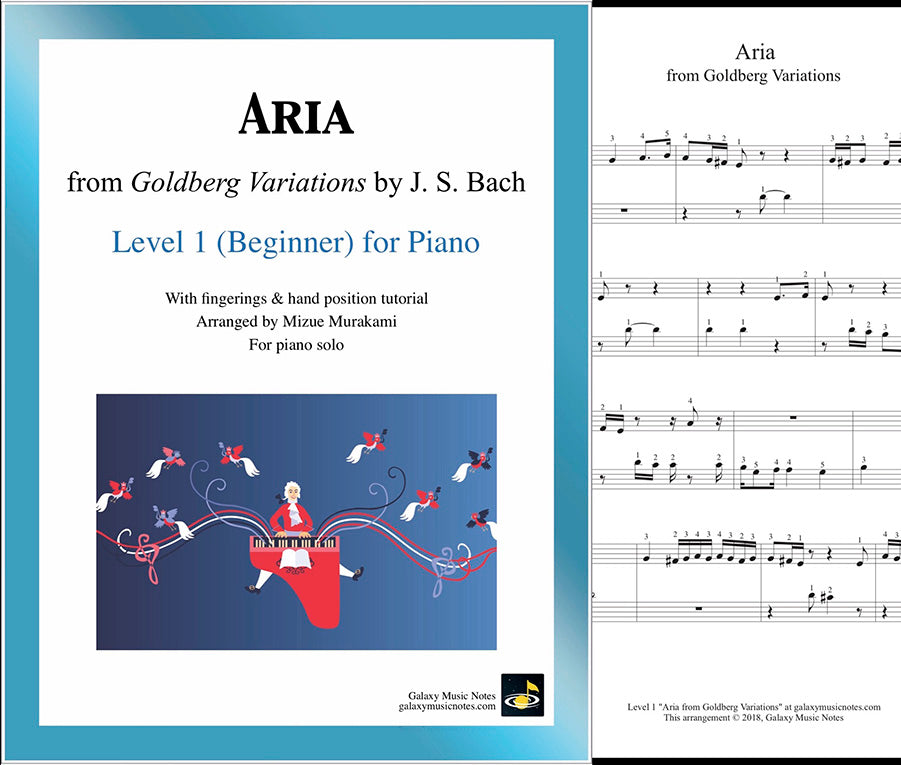 Aria from Goldberg Variations: Level 1 - Cover & 1st page