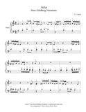 Aria from Goldberg Variations: Level 2 - 1st music page