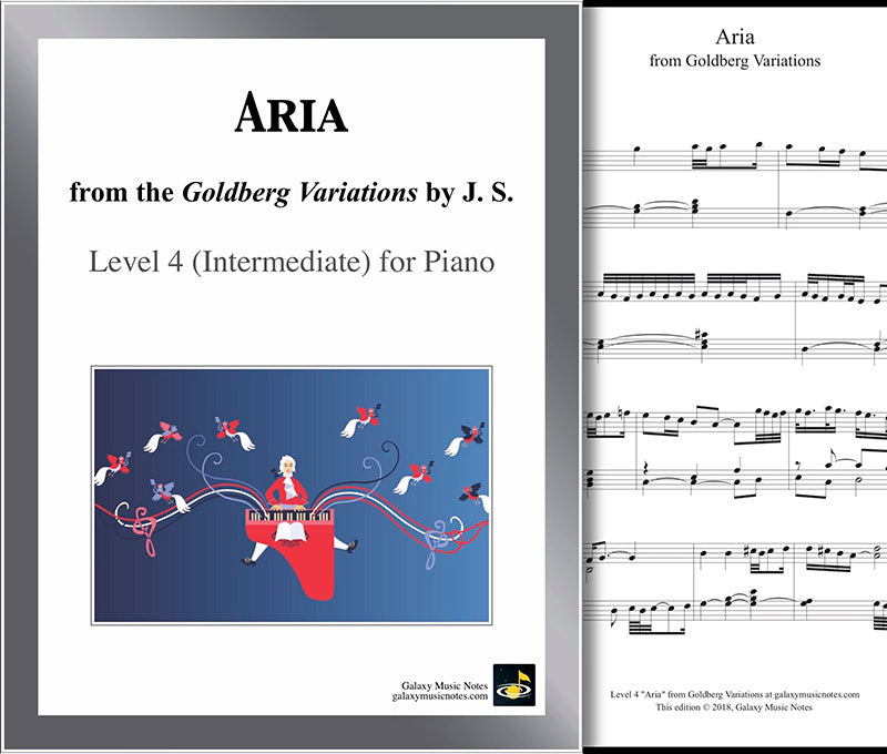 Aria: Goldberg Variation Level 4 - Cover & 1st page