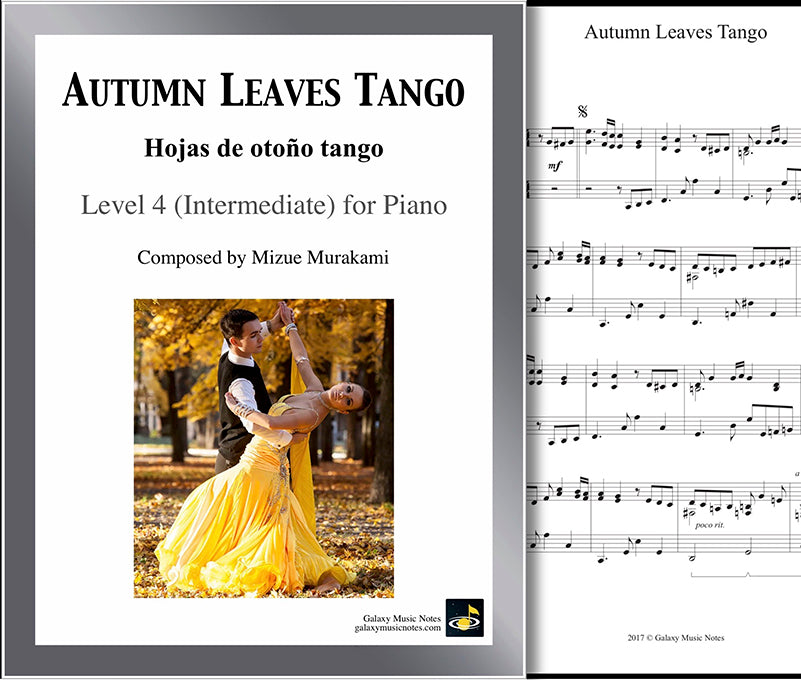 Autumn Leaves Tango Level 4 - Cover & 1st page