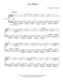 Ave Maria by Gounod: Level 3 - 1st music page