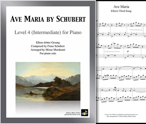 Ave Maria by Schubert Level 4 - Cover & 1st page