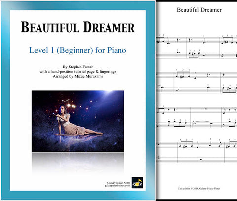 Beautiful Dreamer Level 1 - Cover sheet