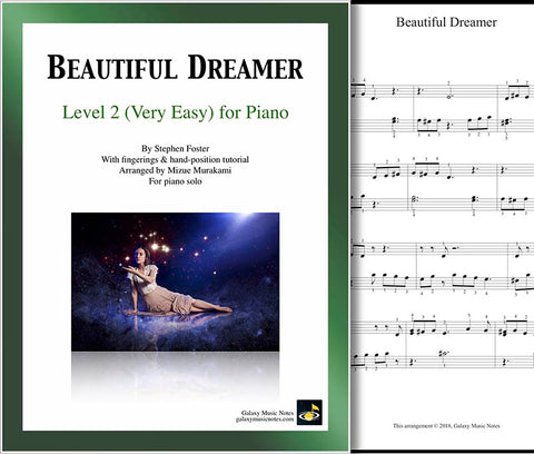 Beautiful Dreamer Level 2 - Cover sheet & 1st page