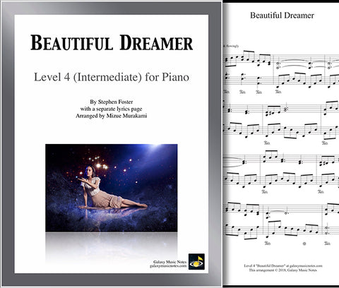 Beautiful Dreamer Level 4: Cover sheet & 1st page