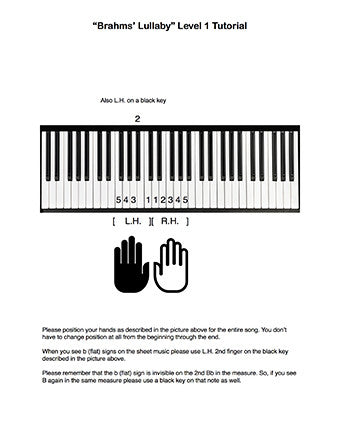 Brahms' Lullaby Level 1 - Tutorial page