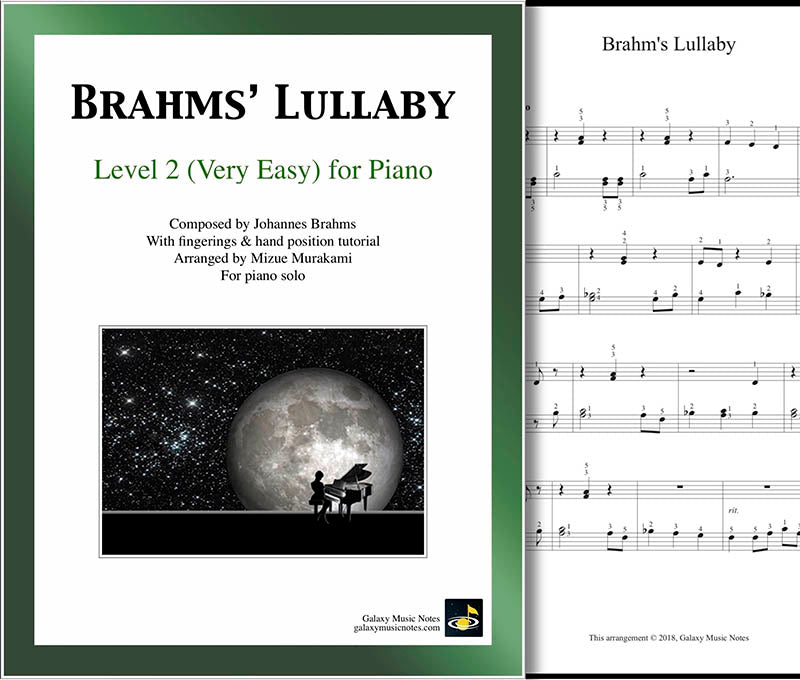 Brahms' Lullaby Level 2 - Cover sheet