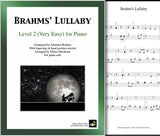 Brahms' Lullaby Level 2 - Cover & 1st piano sheet