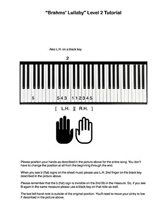 Brahms' Lullaby Level 2 - Tutorial page