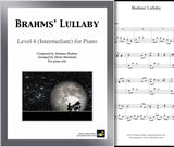 Brahms' Lullaby: Level 4 - Cover sheet & 1st page