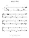 Brahms' Lullaby: Level 4 - 1st music page