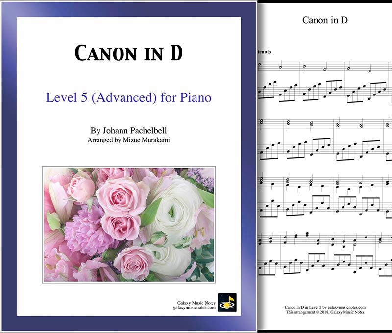 graphic regarding Canon in D Piano Sheet Music Free Printable named Canon inside D through Pachelbel Superior piano solo sheet tunes