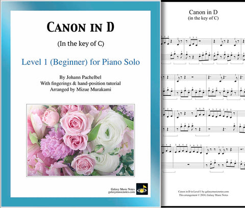 Canon in D Level 1 - Cover sheet & 1st page