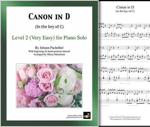 Canon in D Level 2 - Cover sheet & 1st page