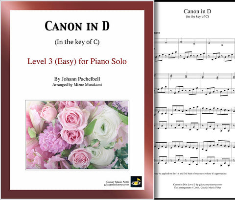 Pachelbel Canon Level 3 - cover sheet