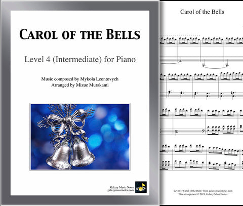 Carol of the Bells: Level 4 - 1st piano page & cover