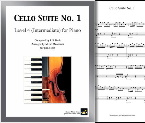 Cello Suite No. 1 by Bach Level 4 - Cover sheet
