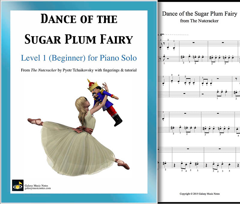 Dance of the Sugar Plum Fairy Level 1 - Cover & 1st piano page