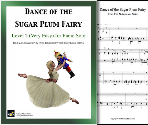 Dance of the Sugar Plum Fairy Level 2 - Cover & 1st piano page