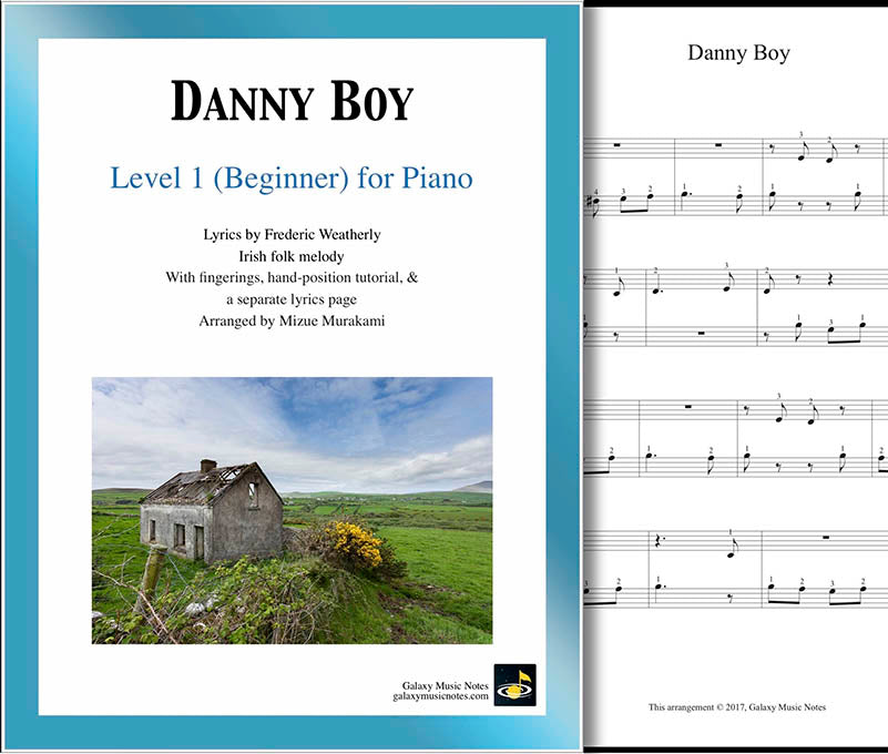 Danny Boy Level 1 - Cover sheet & 1st page