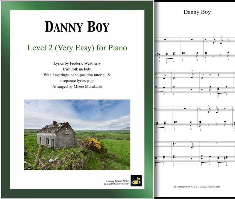 Danny Boy Level 2 - Cover sheet & 1st page