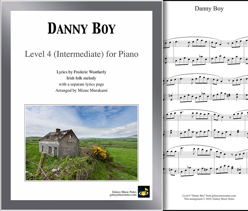 Danny Boy: Level 4 - 1st piano page & cover