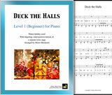 Deck the Halls Level 1 - Cover sheet & 1st page