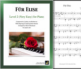 Fur Elise Level 2 - Cover & 1st page