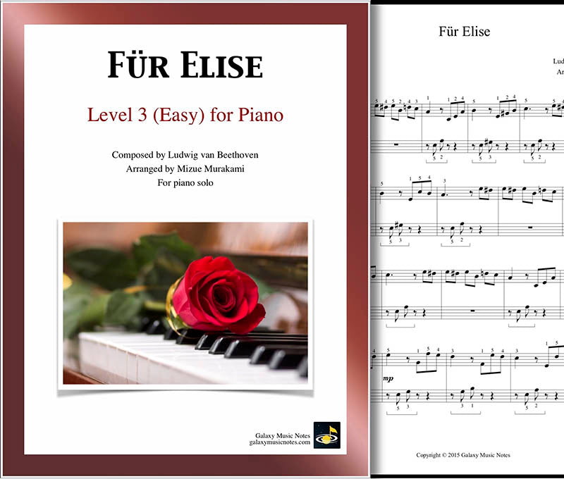 Fur Elise Level 3 - Cover & 1st page